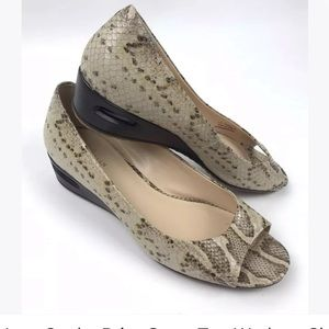 Cole Haan Nike Air Snake Print Wedges Shoes